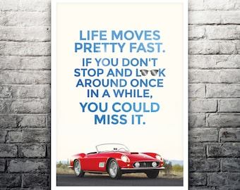 Ferris Bueller's Day Off movie poster print