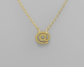 Gold At Sign Necklace