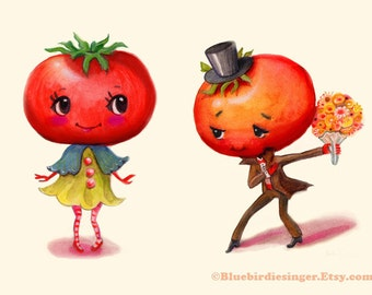 Tomato Couple Art Print
