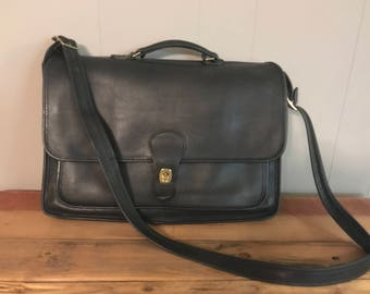 Black Coach Metropolitan Briefcase - Authentic