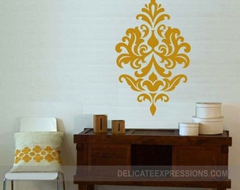 Damask Decals Vinyl Wall Paper Damask Wall Decal Vinyl Vinyl Decal Girls Bedroom Decal Vinyl Wall Decal Nursery Decal Bedroom Decal Fancy