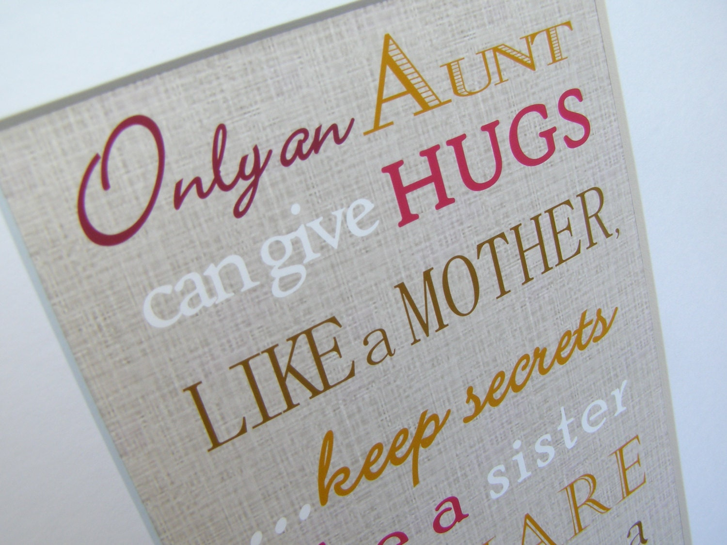Aunt gift only and aunt can give hugs like a mother print zoom kristyandbryce Choice Image