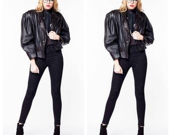 30% off Vintage 80s Leather Blazer