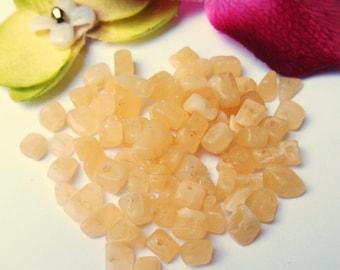 set of 30 yellow gemstone beads