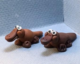 Duck-billed Platypus miniatures, choice of dark or light