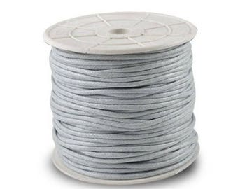 Light grey waxed cotton thread