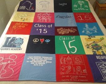 Tshirt quilts custom