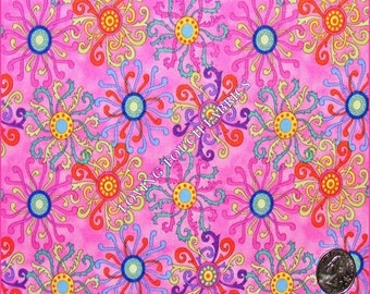 "Springs Crazy Medallion Cotton Fabric 1/2 Yd..18"" x 43"""