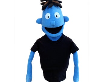 Hand Puppet - Customizable Boy Puppet #1 - Professional puppet (available in black light)