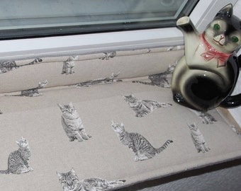 Cat pillows, window sill pillows, window sill pad, window seat cushion,