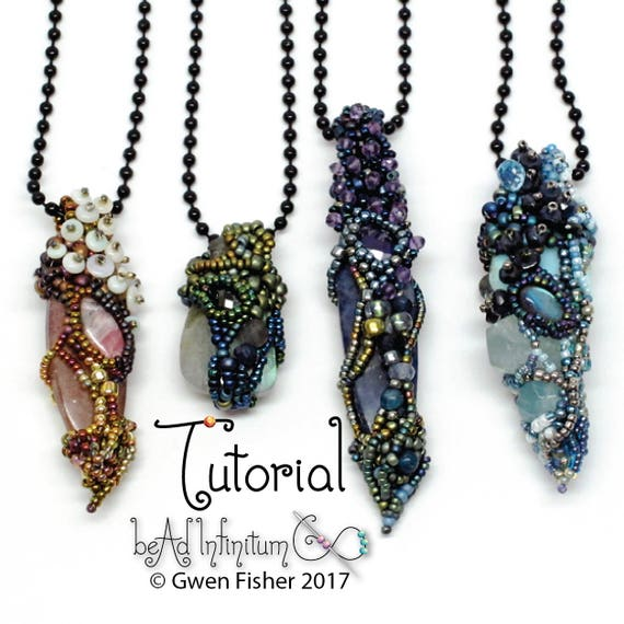 Tutorial fairy chrysalis beaded pendant made with freeform tutorial fairy chrysalis beaded pendant made with freeform peyote and right angle weave raw aloadofball Image collections