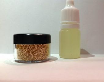 GLITTER BEARD KIT! Caviar Glitter, Beard Glitter,Organic Serum,Custom Blend for Beards, Single Size Specifically for Beards Beard Basics