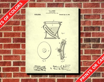 Bathroom Wall Art Poster Toilet Patent Print Bathroom Art Print Restroom Decor