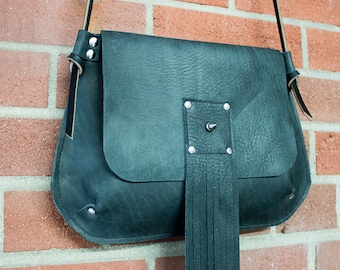 Fringed Spike Purse Crossbody Bag