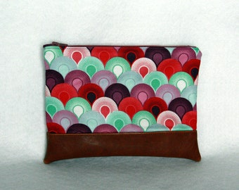 Tula Pink Zipper Pouch with Vinyl Accent