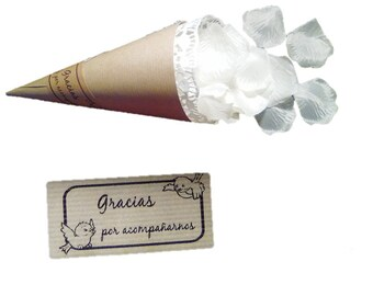 50 cones-wedding for confetti or rice-thank you for accompanying us-