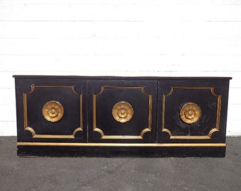 Buffet Console Sideboard Hollywood Regency Storage Hutch Glam French Provincial Neoclassical Dining Tv Media Cabinet CUSTOM PAINT AVAIL
