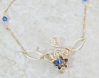 Eowyn Ivy Leaf Necklace - Lady of Rohan - Woodland Wedding