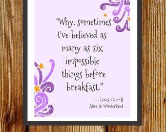 Alice in Wonderland Quote Print