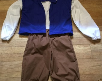 Pinocchio Storybook Costume Pinocchio costume knickers vest and colonial shirt
