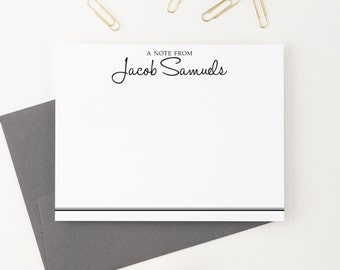 A Note From, Mens Stationery, Personalized Stationery, Stationery Set, Custom Stationery, Stationary Personalized, Stationary Cards, PS040