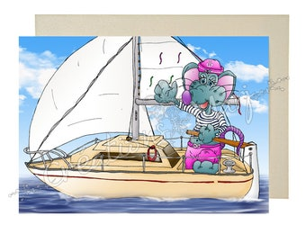 Sail, Sailboat, sunshine, happy, sports card card, card congratulations card mouse, Relaxation, travel map
