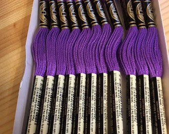 DMC 208 Very Dark Lavender Embroidery Floss 2 Skeins 6 Strand Thread for Embroidery Cross Stitch Needlepoint Sewing Beading