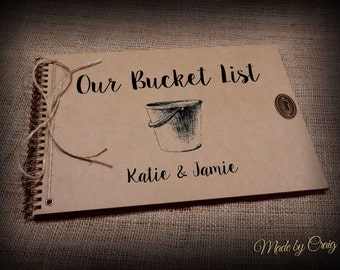 Our Bucket List, Personalised Wedding/First Anniversary Gift Idea, Scrapbook, Photo Album, Journal, Memory Book, Vintage Style