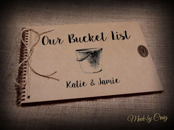 Our bucket list personalised wedding first anniversary gift