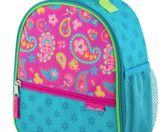 Personalized Girls Insulated Lunch bag, PAISLEY Lunch Box,  Stephen Joseph PAISLEY Lunch Bag