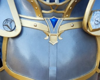 Warcraft Movie Inspired Anduin Lothar Chest Plate with Rib Guards Patters