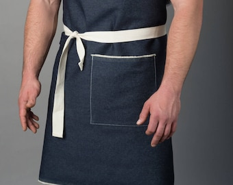 Heston - Mens' Denim Apron - Black Denim Apron - Denim Apron