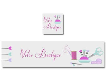 Sewing for Etsy Shop banner, accessories sewing shop banner