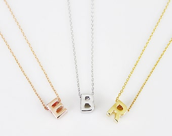 Upper Case Initial Necklace Personalized Necklace Letter Necklace Bridesmaid Necklace Birthday Gift