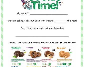 Girl scout cookie program business cards 45 pricing girl scout cookie flyer 2018 colourmoves Image collections