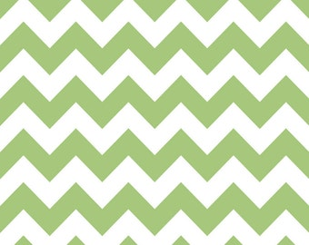 Medium Chevron in Green by Riley Blake - 1 Yard