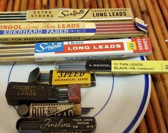 Vintage pencils leads/mechanical pencil lead refills
