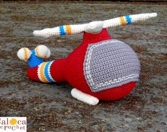 Pattern Helicopter amigurumi. By Caloca Crochet