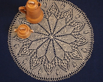 knitted doily, lace knitted doily, linnen doily, gift, table center accent, table center decor