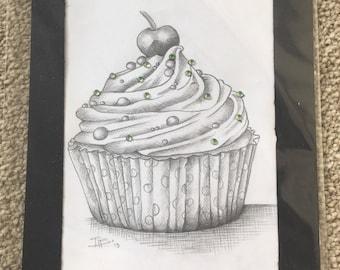 Cupcake pencil sketch