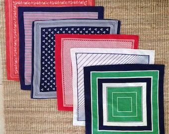 Scarves/ Bandanas/ white/ red/navy/green/ cotton