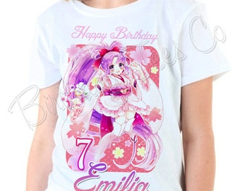 Glitter Force Birthday Shirt Add Name & Age Glitter Force Custom Birthday Party TShirt