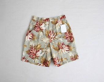 botanical shorts | high waist floral skirts | floral cotton shorts