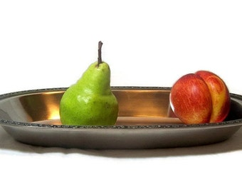 Vintage Oval Serving Bowl Oneida Custom Stainless Elegant Modern Dining