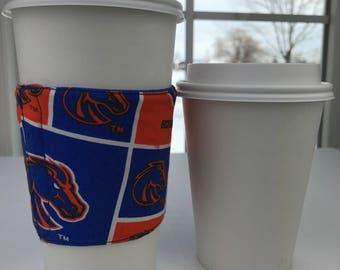 Boise State Bronco Print Fabric Coffee Cozy
