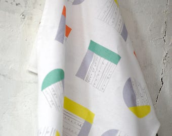 Collage Cotton Tea Towel