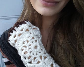 Mandala Wrist Warmers/ Fingerless Gloves