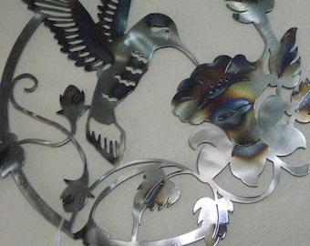 Metal Hummingbird Wall Hanging