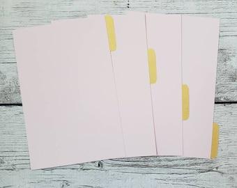 Blush Pink Planner Dividers - Minimalist Dividers - Custom Dividers - Planner Dividers - Pocket, A6, Personal, A5 Divider
