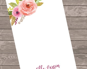 Note pad, personalized gift, custom stationery, monogram note pad. gift idea,